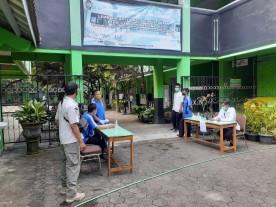 Pemantuan Protokol Kesehatan Uji Coba Pelaksanaan PTM di SD N Tegalrejo 1