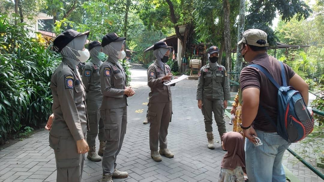 Patroli dan Pengamanan Protokol Kesehatan di Tempat Pariwisata