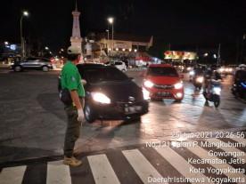 Pol PP Kota Yogyakarta Melaksanakan Giat Operasi Masker